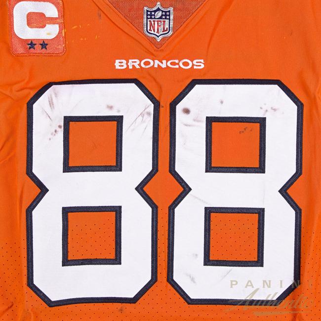 best cheap 3ebfc 2b6bb Orange Rush: Panini Authentic Adds Denver Broncos Game-Worn ...