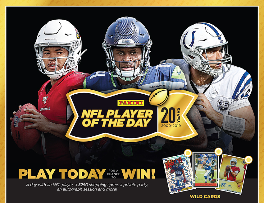 Panini America S Nfl Player Of The Day Hobby Shop Promotion