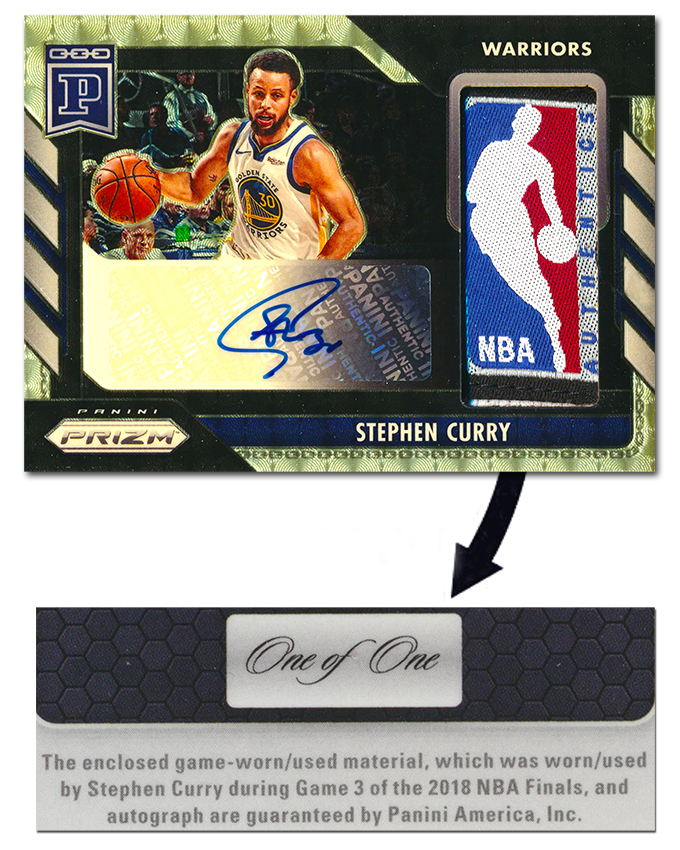 The Logoman Patch From Steph Curry S 2018 Nba Finals Game 3 Jersey Headlines Week 5 Of 2020 Prizm Blockchain The Knight S Lance